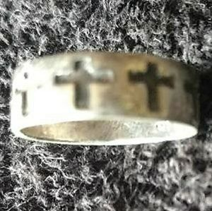 Sterling Silver Stackable Wide Band Ring Size 8.5